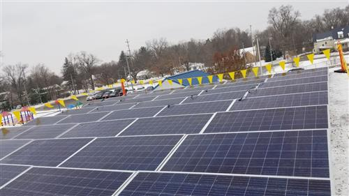 Solar Arrays on the ECC Roof
