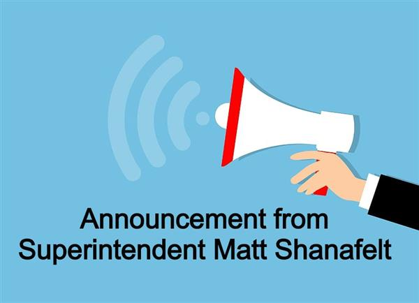 Announcement from Matt Shanafelt