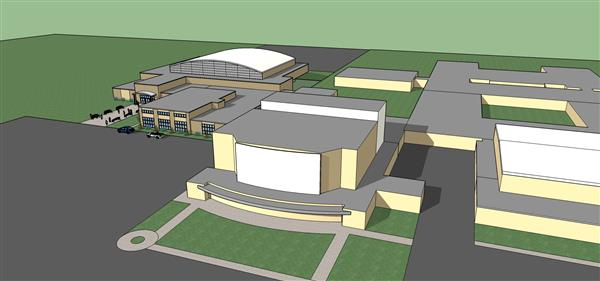 Architectural Rendition of FHS Addition
