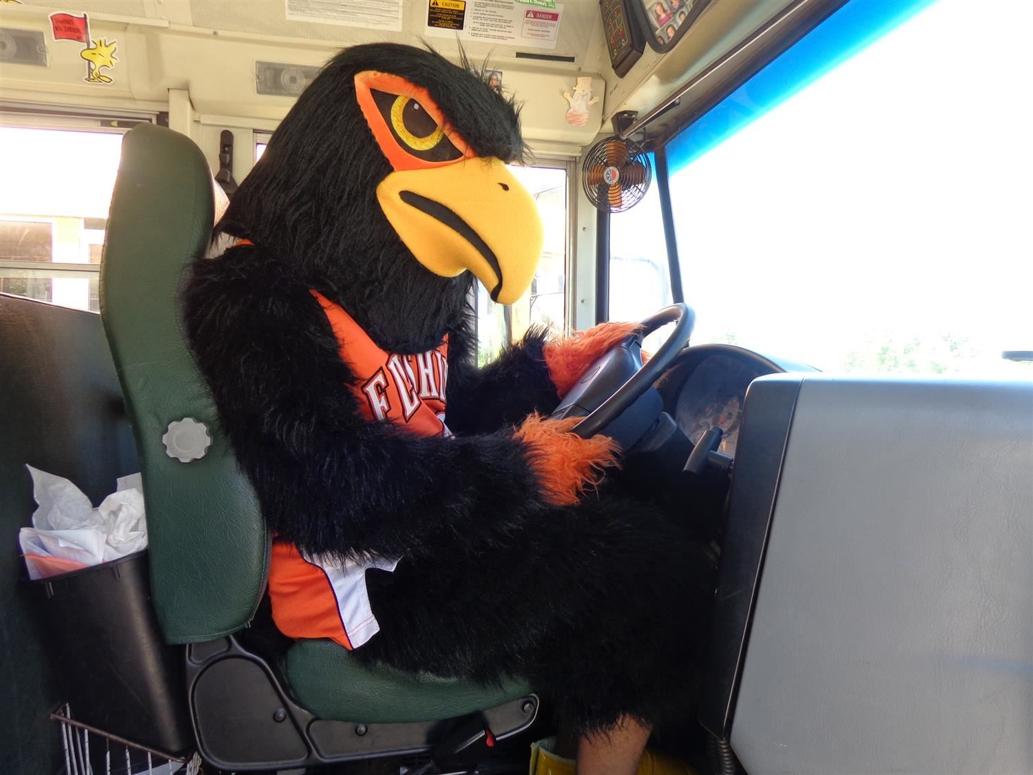 Raider Bird Driving Bus