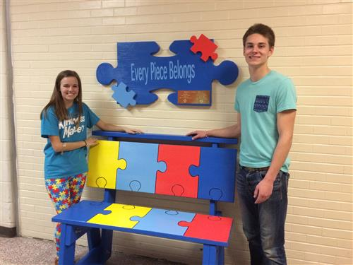 Autism Awareness Bench