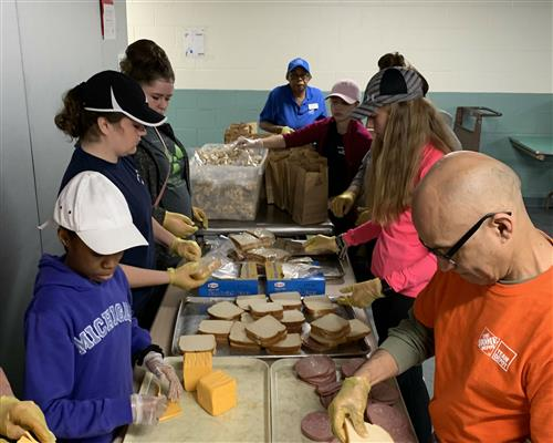 The FHS Blueberry Ambassadors recently visited the North End Soup Kitchen.